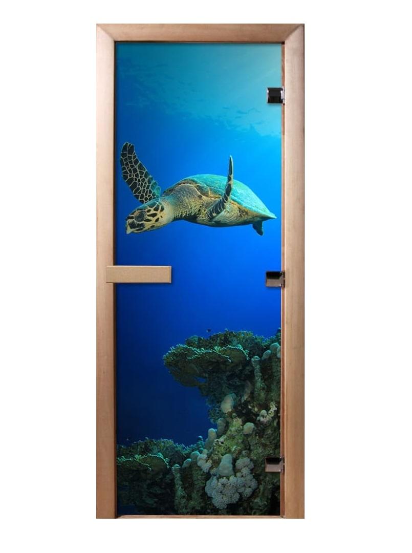 Дверь стеклянная фотопечать А086 1900х700