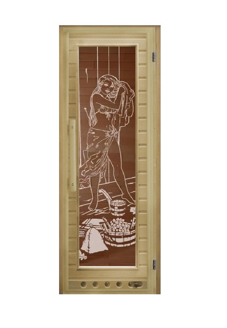 Дверь Элит с вентиляцией «Девушка» 1900х730х60мм