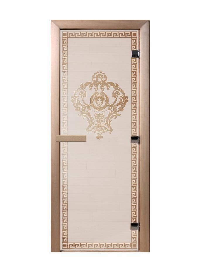 Дверь стеклянная для саун «Версаче» сатин 700х1900мм