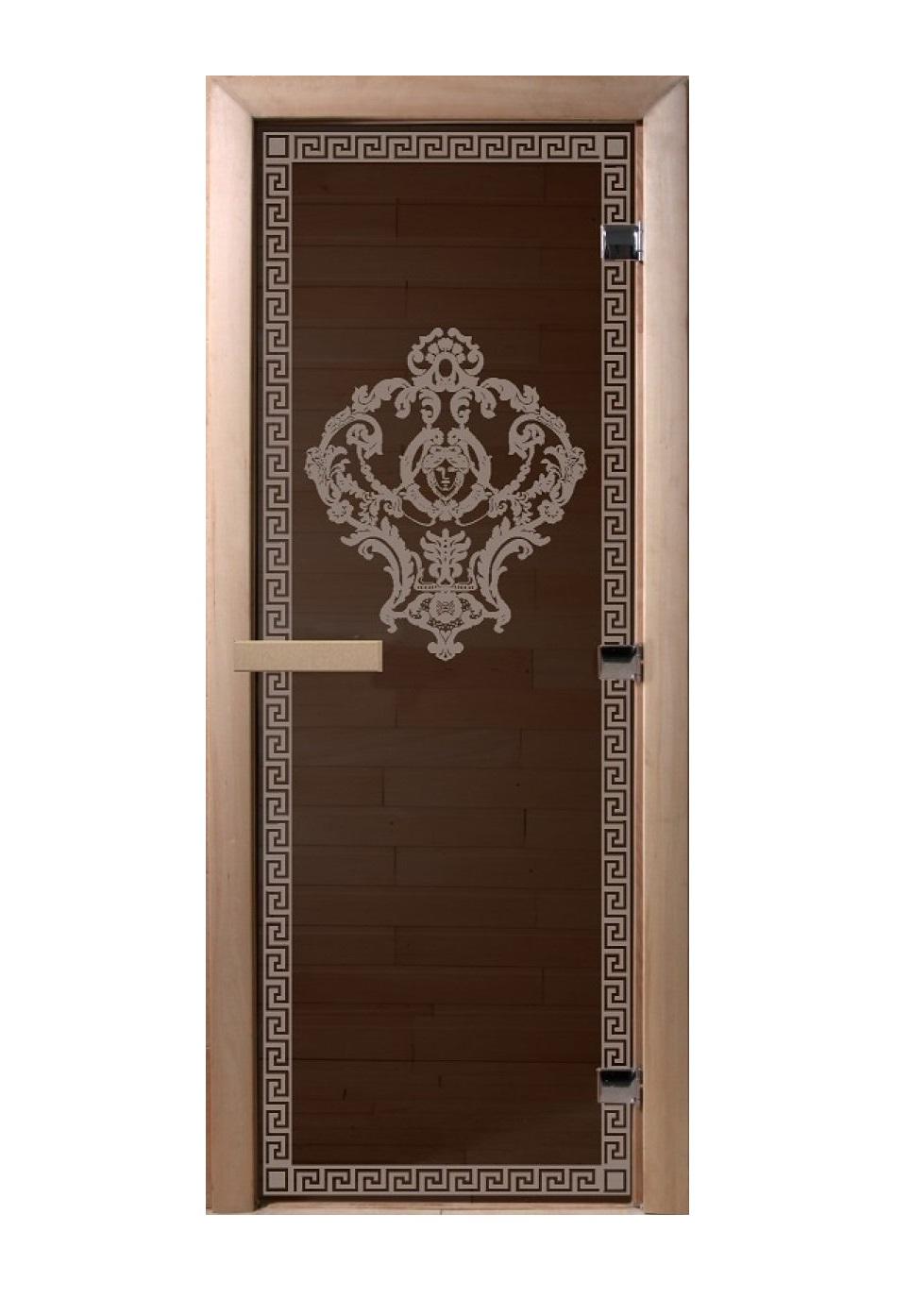 Дверь стеклянная для саун «Версаче» бронза 700х1900мм