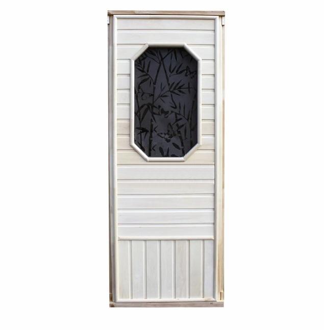 Дверь с 8мм стеклом бронза (Восьмиугольник)