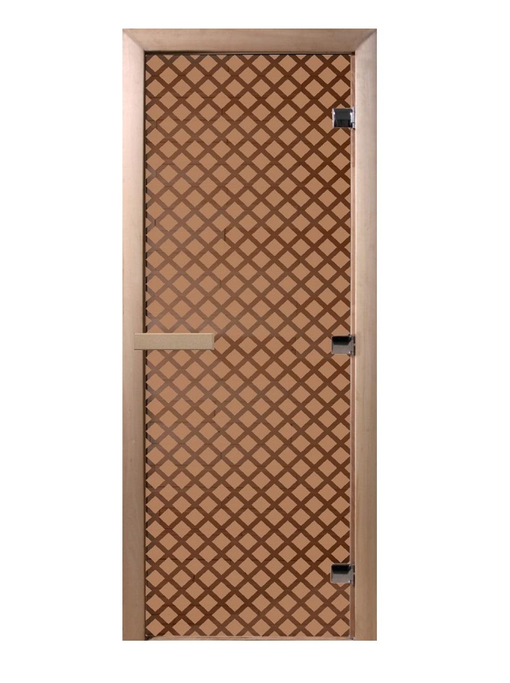 Дверь стеклянная для саун «Мираж» бронза 700х1900мм
