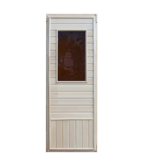 Дверь с 8мм стеклом бронза (Прямоугольник) 1850х750мм