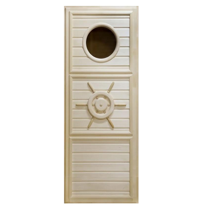 Дверь деревянная «Штурвал с иллюминатором» 1870х740