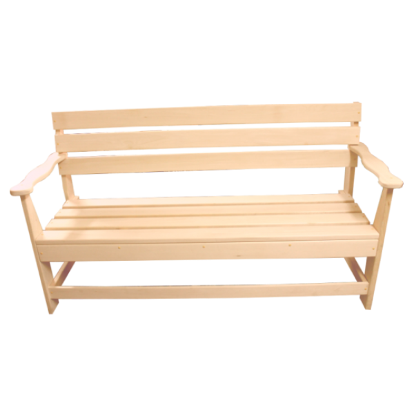 Скамейка не раскладная с подлокот. 1600*550*900 мм