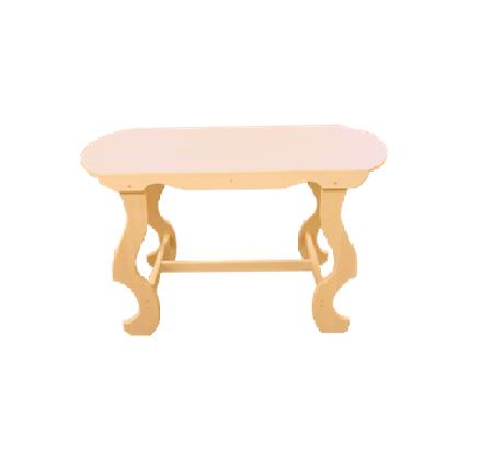 Стол с фигурными ножками без полки 1500*630*730