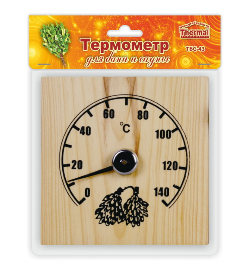 Термометр для сауны ТБС-43 «Квадрат»