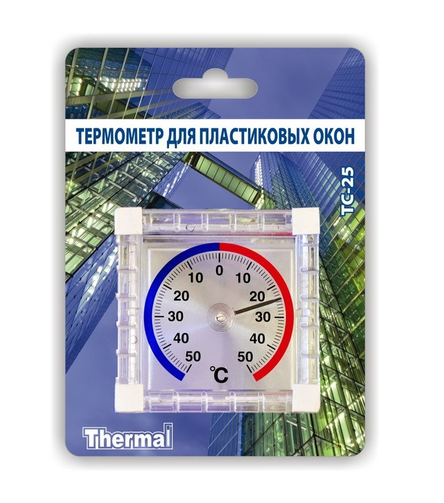 Термометр для пластиковых окон ТС-25