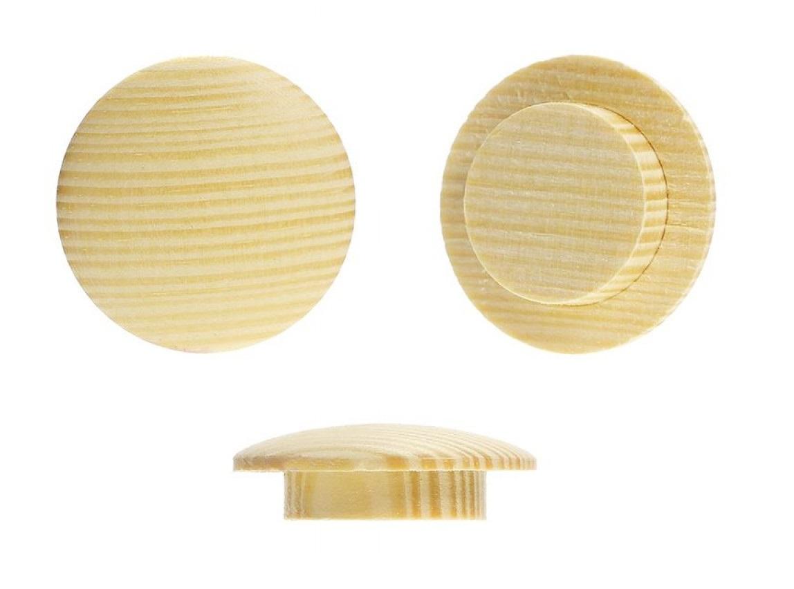 Заглушка на отверстие D-10 (15/10 мм) сосна