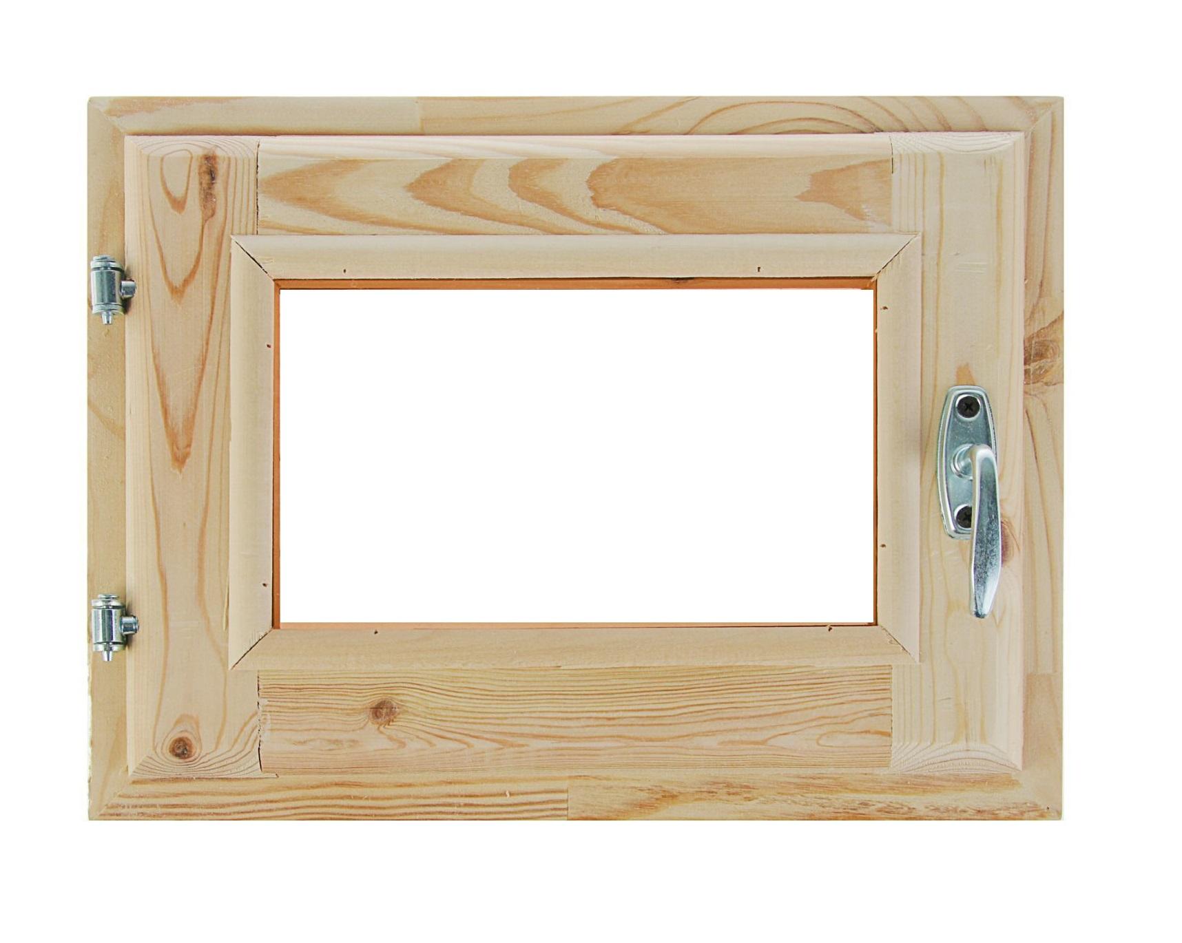 Форточка для бани (30х40) стеклопакет хвоя