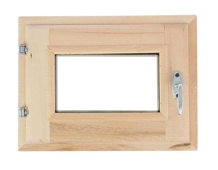 Форточка для бани (30х40) стеклопакет липа