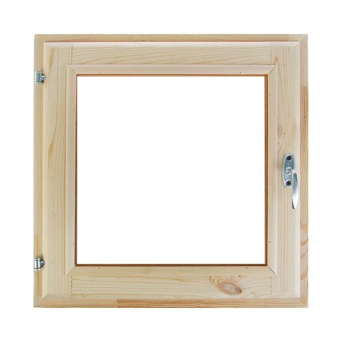 Форточка для бани (45х45) стеклопакет хвоя
