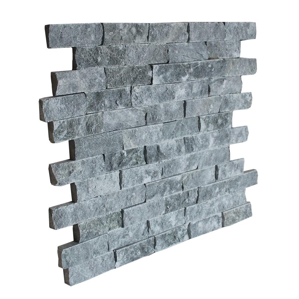 Декоративная плитка талькохлорит 200*50 мм (рваный камень)
